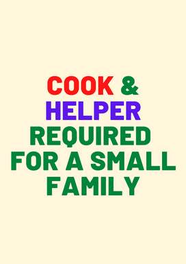 Cook & Helper Required