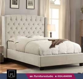 High Profile Tufted Bed By Furniture Studio.