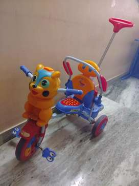 Kids cycle with handle