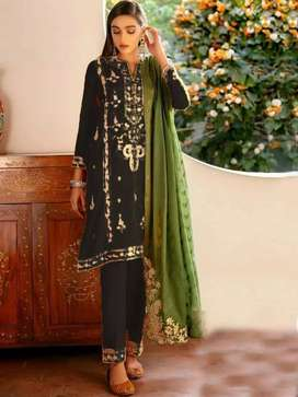Offer Summer Collection 2021*   *3pc lawn cotton 68/68 Stuff