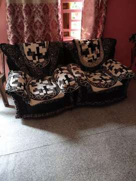 Black and Silver Sofa Set with Couch