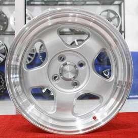 jual velg type hsr wheel BRISKET JD5290 HSR Ring.15 Lebar.7-8 PCD.4X10