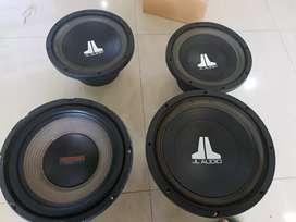 Subwoofer JL audio dan soundstream exact