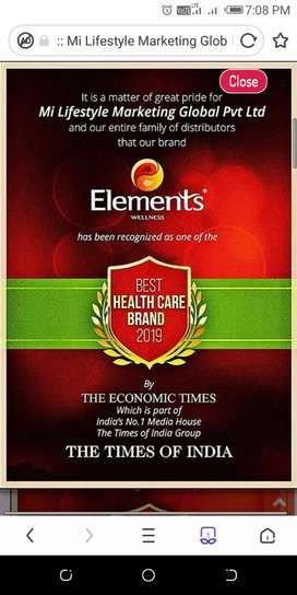 I AM A DISTRIBUTOR OF ELIMENT WELLNESS HERBAL BRAND