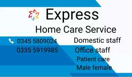 Expert Family Cook trained helper patient attended male female