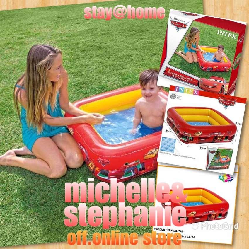 M&S OUTDOORPOOLFANI02 - 2020 Kolam Renang Anak Motif Cars McQueen Bak 0
