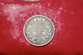 One Rupee India 1913 George V King Emperor