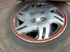 """14"""" allot wheels with Tyre for sale"""