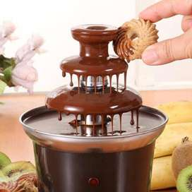 3 tiers Chocolate Fountains Mini Stainless steel Melt Heating Fondue
