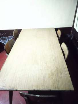 Plywood Dining table with 6 chairs