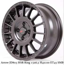 Jual velg Avanza ARROW JD803 HSR R15X65 H4x100 ET45 SMB diplaju