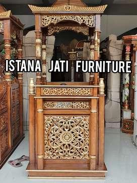 Mimbar masjid mimbar full jati mimbar ukiran