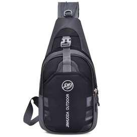 JINHUODA Outdoor Tas Selempang Outdoor Crossbody Bag - WYK16 - Black