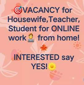Work from home opportunity for females.