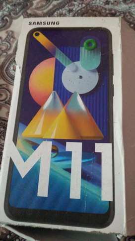 M11 new mobile with warranty Ram 4 gb 64 gb storage