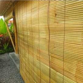 Krey kulit bambu putih tabir tampias hujan 18