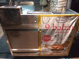 Griil and frire counter and hot plate counter