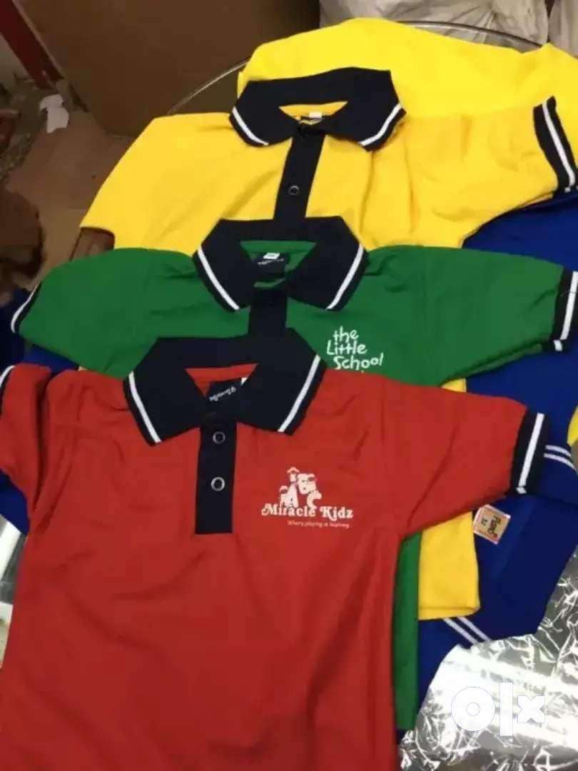 Whole sale school uniform tshirts customize option available 0
