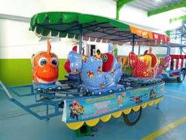 odong odong fiber robocar poli EK kereta mini coaster komedi safari n