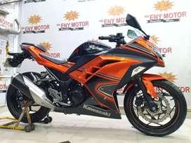 Discount ambyar! Kawasaki Ninja 250 FI ABS SE Th.2013 orange mewah