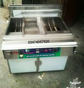 Deep fryer 2 tube by 3 tube with sizzling