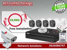 4Ch CCTV Full HD Camera Packages ( New )