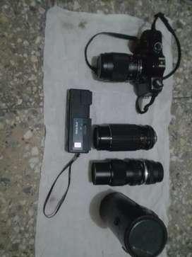 Kamera Yashica, 2 Lensa Sigma dan Olympus