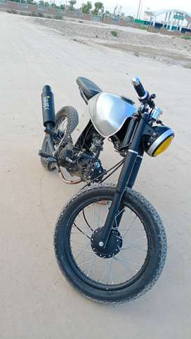 superpower 13 model build into caferacer with mono shok