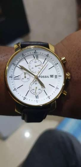 Fossil's genuine chronograph watch.
