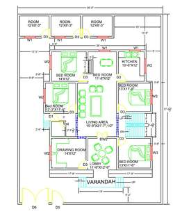 Designing floor plans of home and building