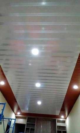 Jual eceran dan grosir PVC Plafon minimalis dan pemasangan