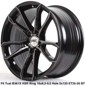modell FG TUAL B361 HSR R19X85/95 H5X120 ET35/30 BLACK TINT MACH FACE