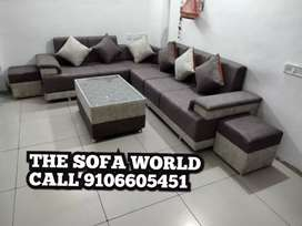 Vivo plus model sofa set with table and stools, direct from factory
