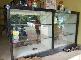 Glass door bakery display showcase