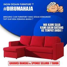 Sofa L Custom Gratis Pilih Warna dan Bahan