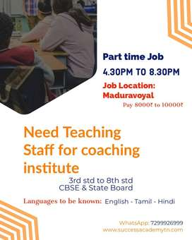 Teaching staff/ manager