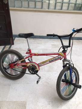 Bmx bicycle with one fat tyre