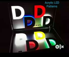 Digital LED acrylic n flex neon  sign board and composit panel maker