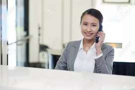 Urgent required female receptionist