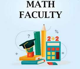 Math faculty for IIT Mains, 11th -12th(Board)