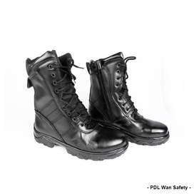 Sepatu PDL WAN Safety Standar Jatah Kulit Asli