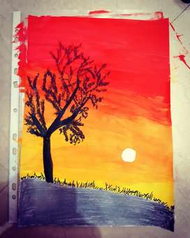 Painting hand made
