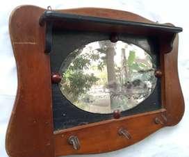Cermin kaca kapstok ndeso antik original lawas