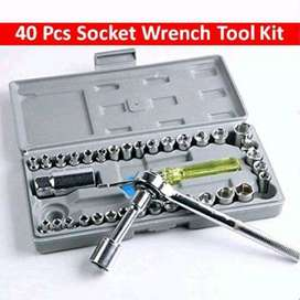 Aiwa Kunci Pas Shock 40 Pcs Multipurpose Combination Socket Wrench Set