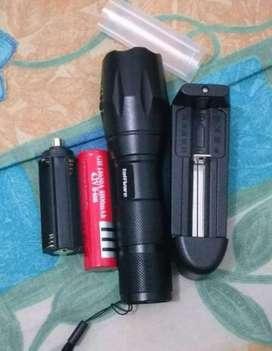 PROMO - PAKET Senter LED Cree Laser E17 XM-L T6 2000 Lumens BATERAI +