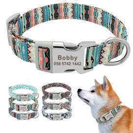Dog cat collars and tags personalized customized