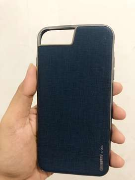 Premium Casing Leatherette Navy Blue for iPhone 7+ & 8+ ( from iBox )