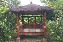 Macam2 gazebo bambu