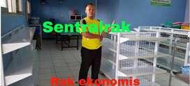 rak gondola ekonomis premium murah bahan baja supermarket minimarket