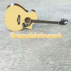 Gitar akustik natural greymusik seri 198